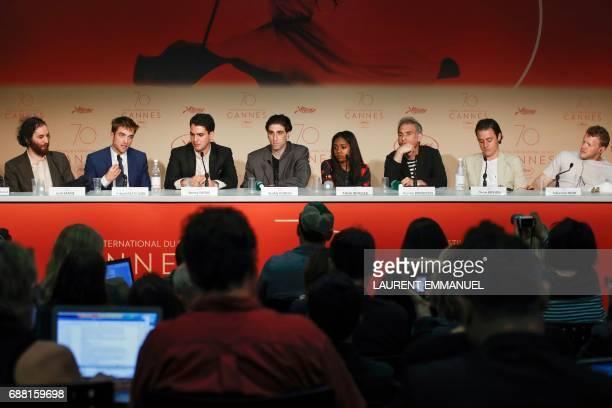 US director Josh Safdie British actor Robert Pattinson and US director Benny Safdie US actor Buddy Duress US actress Taliah Webster US screenwriter...