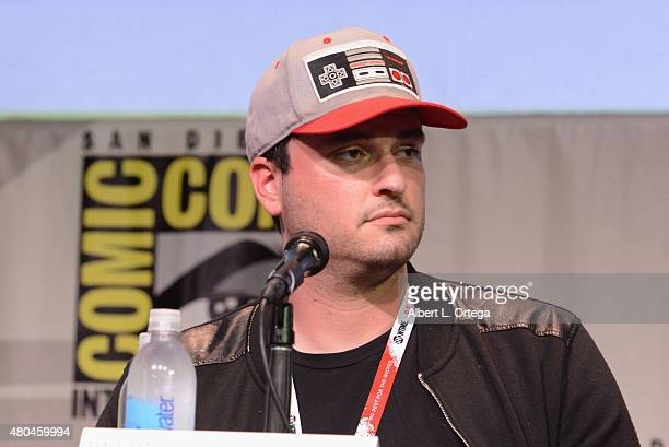 Director Josh Trank of 'Fantastic Four' speaks onstage at the 20th Century FOX panel during Comic-Con International 2015 at the San Diego Convention...