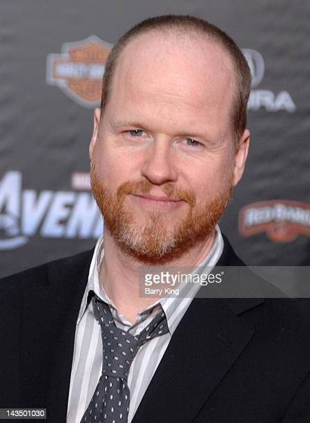 Director Josh Whedon arrives at the Los Angeles Premiere of 'The Avengers' at the El Capitan Theatre on April 11 2012 in Hollywood California