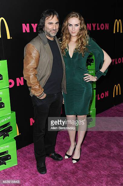 Director Joshua Newton and actress Charlotte Kirk attend NYLON Magazine's December Issue Celebration featuring cover star Demi Lovato at Smashbox...