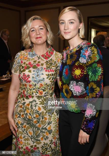 Director Josie Rourke and actor Saoirse Ronan attend the CinemaCon 2018 Focus Features Presentation at Caesars Palace during CinemaCon the official...