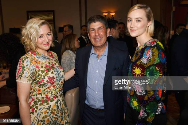Director Josie Rourke Chairman Universal Filmed Entertainment Group Jeff Shell and actor Saoirse Ronan attend the CinemaCon 2018 Focus Features...