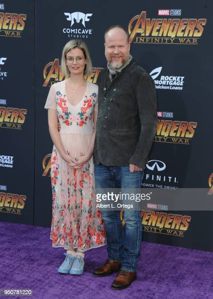 Director Joss Whedon and guest arrive for the Premiere Of Disney And Marvel's Avengers Infinity War held on April 23 2018 in Los Angeles California