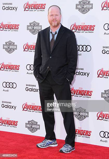 Director Joss Whedon arrives at the Premiere Of Marvel's 'Avengers Age Of Ultron' at the Dolby Theatre on April 13 2015 in Hollywood California