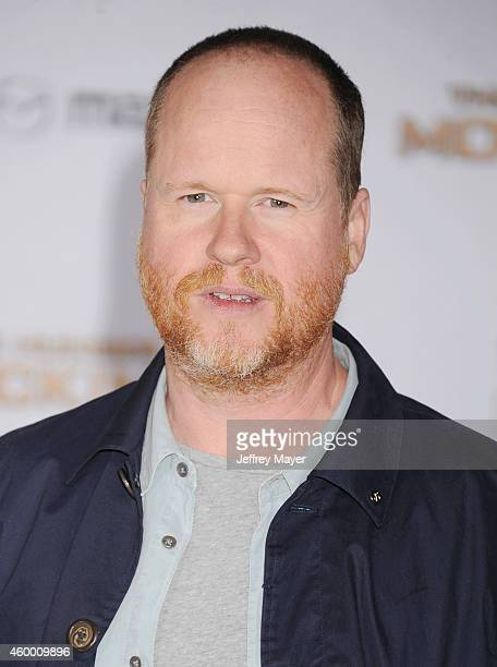 Director Joss Whedon arrives at the 'The Hunger Games Mockingjay Part 1' Los Angeles Premiere at Nokia Theatre LA Live on November 17 2014 in Los...