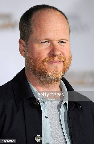 Director Joss Whedon arrives for the Premiere Of Lionsgate's 'The Hunger Games Mockingjay Part 1' Arrivals held at Nokia Theatre LA Live on November...