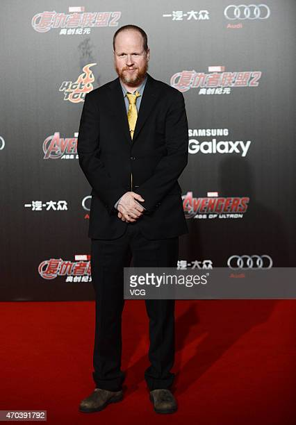 Director Joss Whedon attends 'Avengers Age of Ultron' premiere at Indigo Mall on April 19 2015 in Beijing China