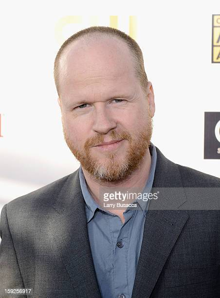 Director Joss Whedon attends the 18th Annual Critics' Choice Movie Awards held at Barker Hangar on January 10 2013 in Santa Monica California