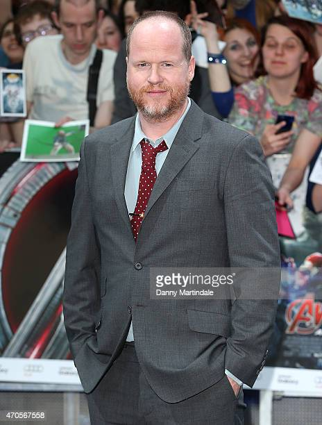 "Director Joss Whedon attends the European premiere of ""The Avengers: Age Of Ultron"" at Westfield London on April 21, 2015 in London, England."