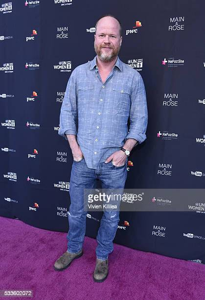 Director Joss Whedon attends the UN Women USNC LA Media Summit in support of #HeForShe at YouTube Space LA at YouTube Space LA on May 21 2016 in Los...