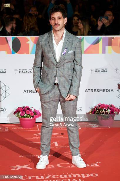 Director Jota Linares receives the 'Retrospeciva' award during the 22th Malaga Film Festival on March 22 2019 in Malaga Spain