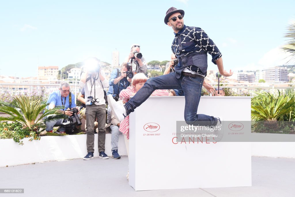 Director JR attends the 'Faces, Places (Visages, Villages)' photocall during the 70th annual Cannes Film Festival at Palais des Festivals on May 19, 2017 in Cannes, France.