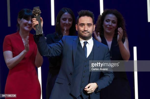 Director Juan Antonio Bayona receives the 'Malaga Hoy' award during the 21th Malaga Film Festival at the Cervantes Theater on April 16 2018 in Malaga...