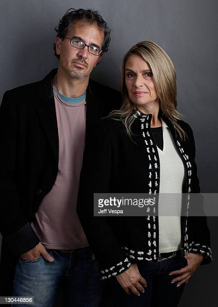 Director Juan Carlos Valdivia and actress Ninon del Castillo pose for a portrait during the 2010 Sundance Film Festival held at the WireImage...