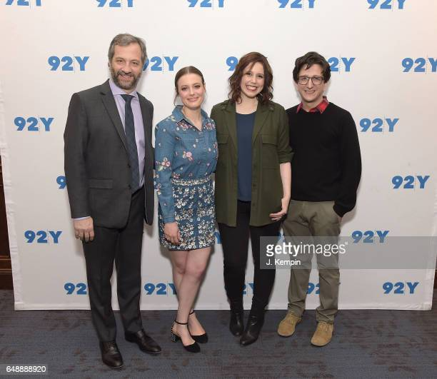 Director Judd Apatow actress Gillian Jacobs comedian Vanessa Bayer and actor Paul Rust attend a special Netflix screening of 'Love' at 92nd Street Y...