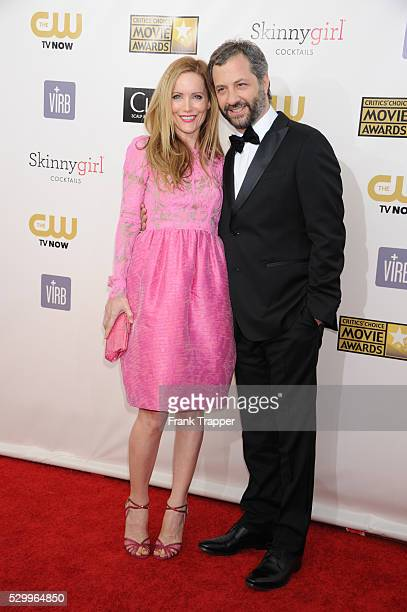 Director Judd Apatow and actress Leslie Mann arrive at the 18th Annual Critics' Choice Movie Awards held at Barker Hanger in Santa Monica California