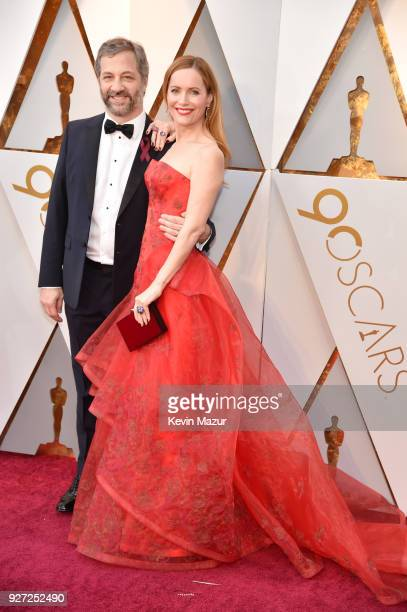 Director Judd Apatow and Leslie Mann attend the 90th Annual Academy Awards at Hollywood Highland Center on March 4 2018 in Hollywood California