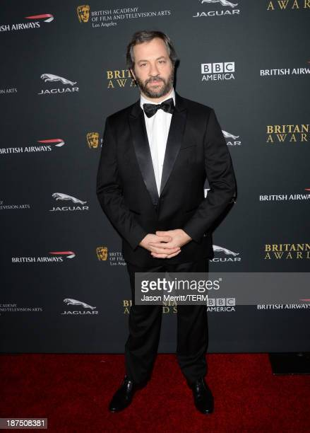 Director Judd Apatow attends the 2013 BAFTA LA Jaguar Britannia Awards presented by BBC America at The Beverly Hilton Hotel on November 9, 2013 in...