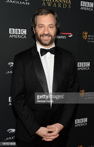 Director Judd Apatow with Stylebopcom attends the 2013 BAFTA LA Jaguar Britannia Awards presented by BBC America at The Beverly Hilton Hotel on...
