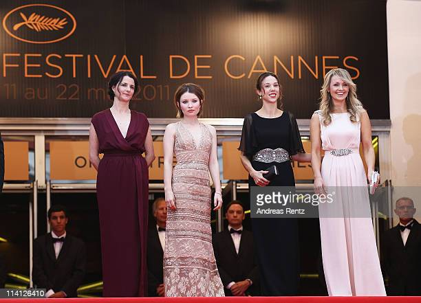 Director Julia Leighactress Emily Browning producer Jessica Brentnall and actress Rachael Blake arrive at the 'Sleeping Beauty' premiere during the...