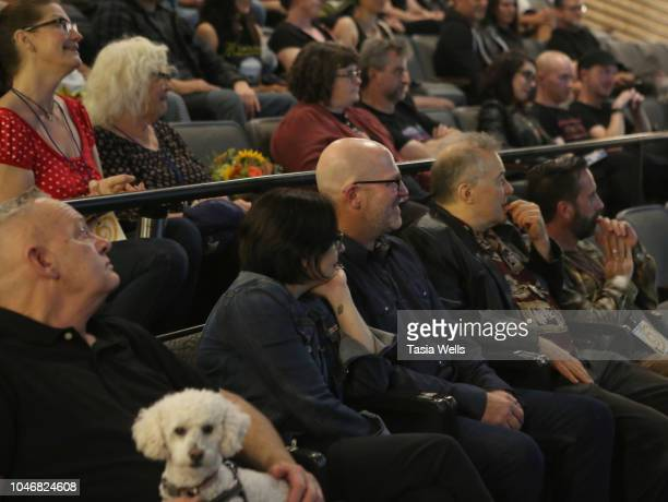 Director Julia Nash and musician Jello Biafra attend the premiere of 'Industrial Accident The Story of Wax Trax Records' at the 2018 Santa Cruz Film...