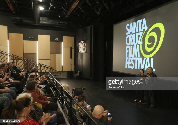 Director Julia Nash and musician Jello Biafra speak onstage at the premiere of 'Industrial Accident The Story of Wax Trax Records' at the 2018 Santa...