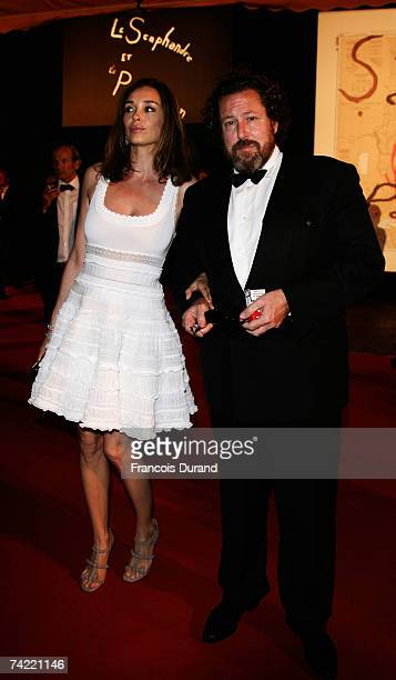 Director Julian Schnabel and actress Olatz Lopez Garmendia attend a party promoting the movie 'Le Scaphandre Et Le Papillon' during the 60th...