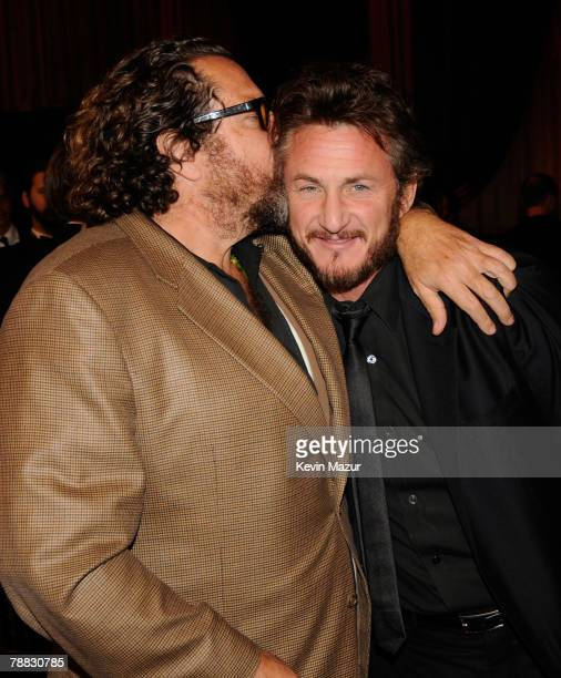 Director Julian Schnabel and Director/Actor Sean Penn inside at the 13th ANNUAL CRITICS' CHOICE AWARDS at the Santa Monica Civic Auditorium on...