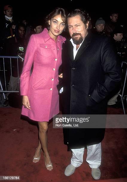 Director Julian Schnabel and wife Olatz Lopez Garmendia attend the 'Meet Joe Black' New York City Premiere on November 2 1998 at Ziegfeld Theater in...
