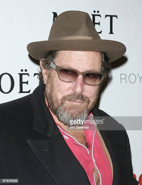 Director Julian Schnabel attends a VIP performance of Next Fall on Broadway at the Helen Hayes Theatre on March 10 2010 in New York City