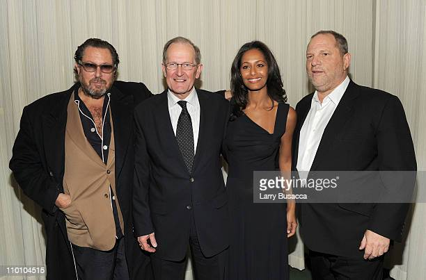 Director Julian Schnabel Joseph Deiss President of the Sixty Fifth Session of the United Nations Screenwriter Rula Jebreal and Producer Harvey...