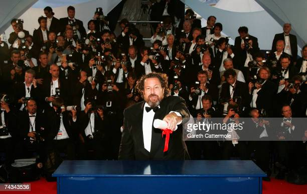 Director Julian Schnabel poses with the Best Director award for his film 'Le Scaphandre et le Papillon' at the 60th International Cannes Film...