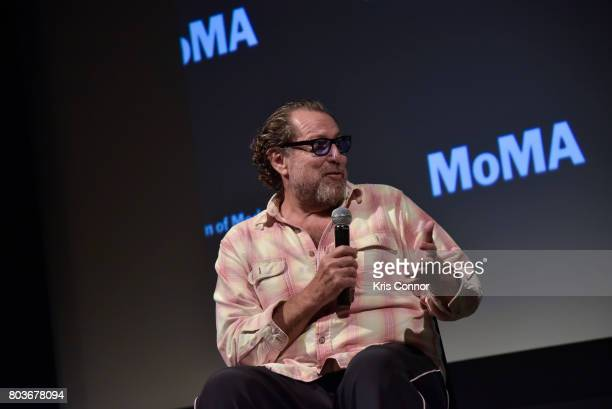 """Director Julian Schnabel speaks during a panel discussion after the """"The Diving Bell And The Butterfly"""" screening at Museum of Modern Art presented..."""