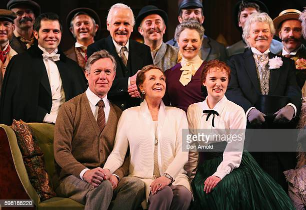 Director Julie Andrews sits amongst principal cast members during the My Fair Lady Production Media Call at Sydney Opera House on September 1 2016 in...
