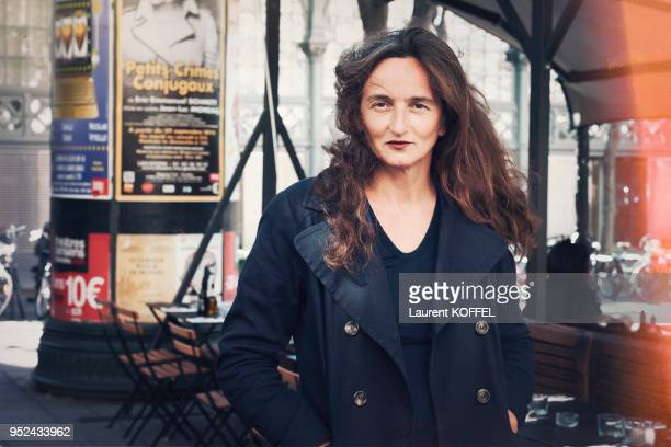 Director Julie Bertuccelli is photographed for Self Assignment on October 5 2016 in Paris France