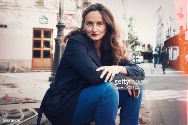 Director Julie Bertuccelli is photographed for Self Assignment on October 5, 2016 in Paris, France.