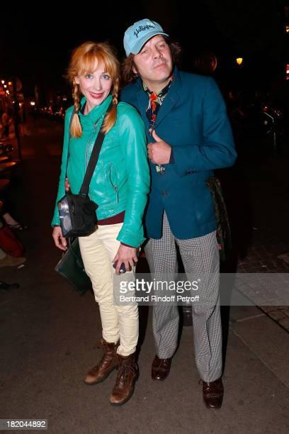 Director Julie Depardieu and companion singer Philippe Katerine attend 'Opium' movie Premiere held at Cinema Saint Germain in Paris on September 27...