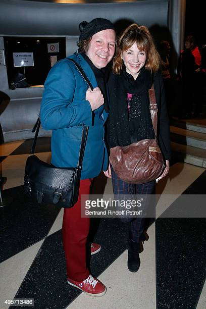 Director Julie Depardieu with her companion singer Philippe Katerine attend Singer Arielle Dombasle performs at La Cigale on November 4 2015 in Paris...