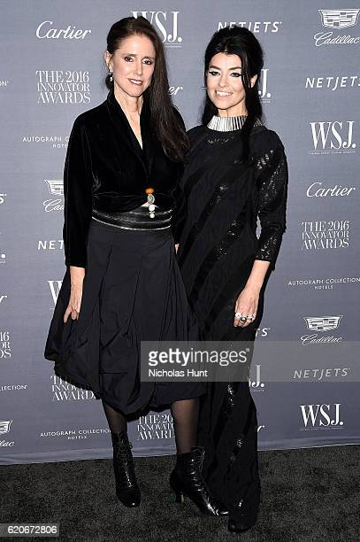 Director Julie Taymor and Honoree Es Devlin attend the WSJ Magazine 2016 Innovator Awards at Museum of Modern Art on November 2 2016 in New York City