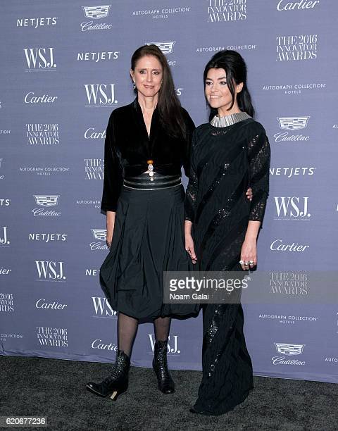 Director Julie Taymor and stage designer Es Devlin attend the WSJ Magazine Innovator Awards at Museum of Modern Art on November 2 2016 in New York...