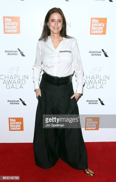 Director Julie Taymor attends the 45th Chaplin Award Gala honoring Helen Mirren at Alice Tully Hall on April 30 2018 in New York City