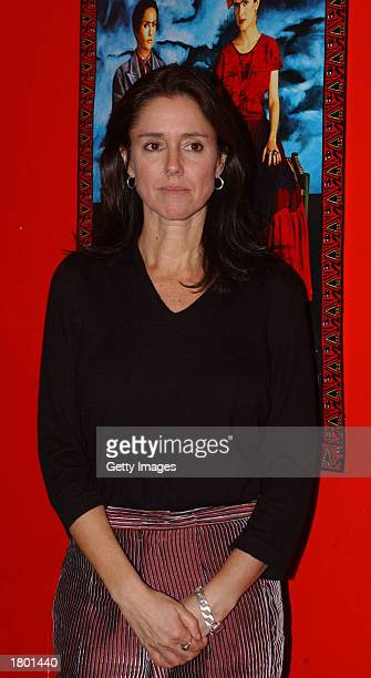 Director Julie Taymor attends the premiere of her film Frida at UGC February 17 2003 Dublin Ireland