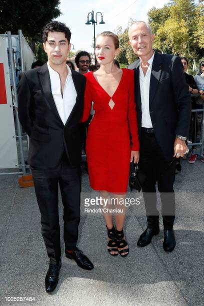 Director Julien Landais Alice Aufray and JeanClaude Jitrois attend 'The Aspern' photocall during the 75th Venice Film Festival at Sala Casino on...