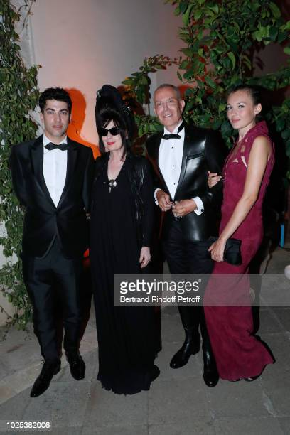Director Julien Landais Diane Pernet Stylist JeanClaude Jitrois and Alice Aufray attend the Celebrazione Party By Chopard and Generali To Honor The...