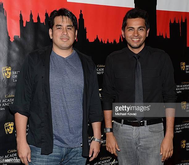 Director Julio Ramos and producer Washington Bustamante arrive at the BAFTA LA Student Film Awards at Los Angeles Film School on June 20 2012 in Los...
