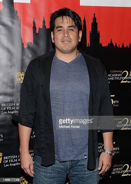 Director Julio Ramos arrives at the BAFTA LA Student Film Awards at Los Angeles Film School on June 20 2012 in Los Angeles California