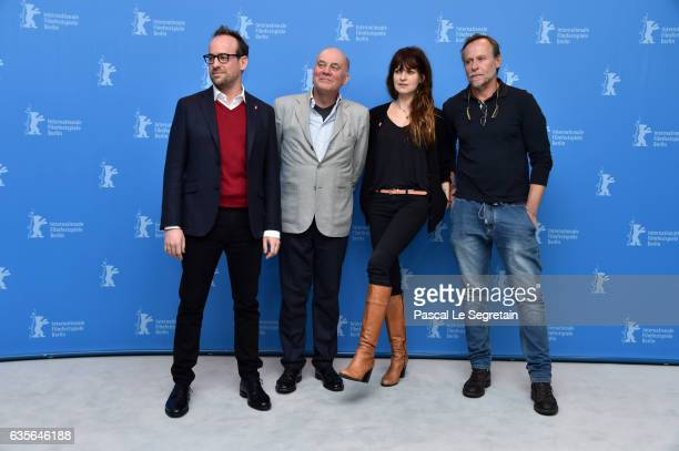 Director Julius Sevcik actors Hanns Zischler Arly Jover and Karel Roden attend the 'A Prominent Patient' photo call during the 67th Berlinale...