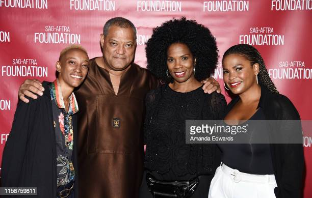 Director Justice Singleton and actors Laurence Fishburne Tyra Ferrell and Nia Long attend the SAGAFTRA Foundation's Game Changers Screening Series...