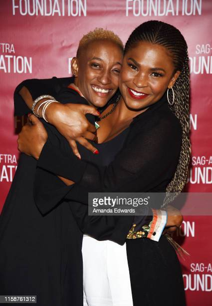 Director Justice Singleton and actress Nia Long attend the SAGAFTRA Foundation's Game Changers Screening Series Boyz N The Hood event at the Ford...
