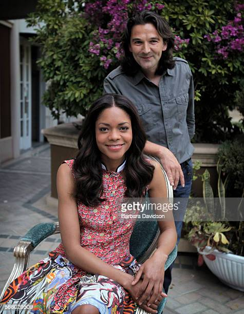 CA0504 Director Justin Chadwick and actress Naomie Harris of The First Grader a National Geographic film about a Kenyan warrior in his 80s who goes...